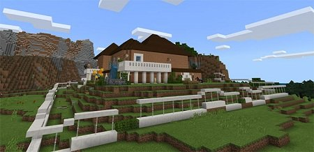Blu's Redstone House map for Minecraft PE