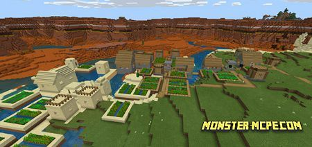 Triple Village Fused to Mesa Mineshaft Seed: 1526565007