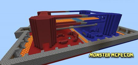 EzCraft's Red Vs Blue Map (PvP) (Minigame)