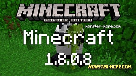 Download Minecraft Bedrock 1.8.0.8 apk free