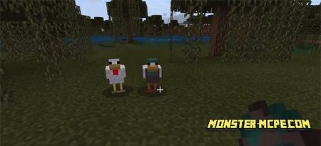 New Minecraft PE 1.9 Mobs Addon