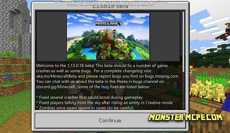 Download Minecraft 1.13.0.18 for Android