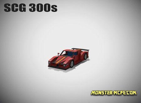 Minecraft Style SCG 300s Car Addon 1.14/1.13/1.12+