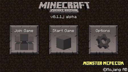 Minecraft PE 0.1.1, 0.1.2, 0.1.3 for Android