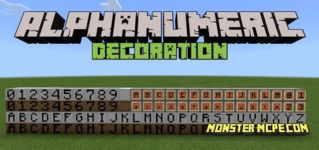 Alphanumeric Decoration Add-on 1.16/1.15+