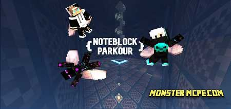 Noteblock Parkour Map