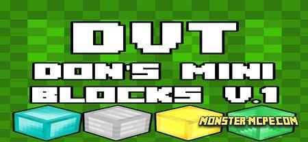 Don's Mini Blocks Add-on 1.16/1.15+