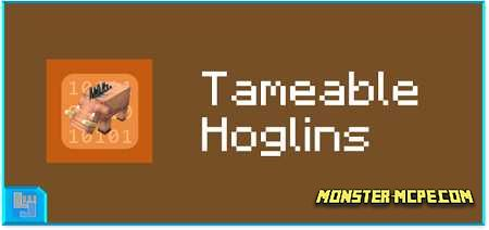 Tameable Hoglins Add-on 1.16/1.15+
