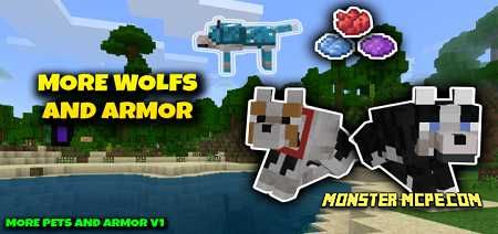 More Wolfs & Armor Add-on 1.16/1.15+