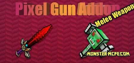 Pixel Gun Melee Weapons Add-on 1.16/1.15+