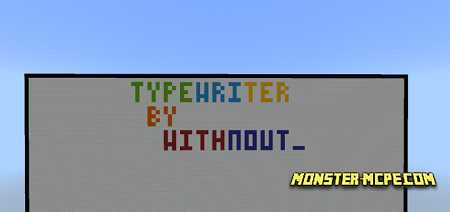 Typewriter in Minecraft Map