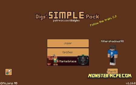 Digs' Simple Pack Texture Pack