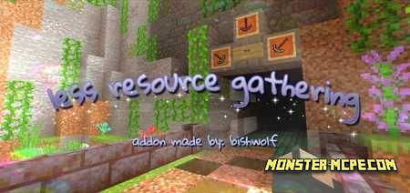 Less Resource Gathering Add-on 1.16/1.15+