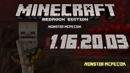 Minecraft PE 1.16.20.03 Full Version for Android