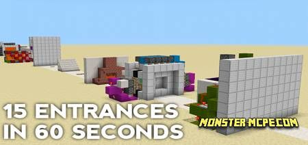15 Entrances in Minecraft Map