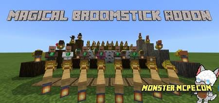 Magical Broomstick Add-on 1.16+