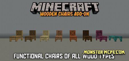 Wooden Chairs Add-on 1.16+