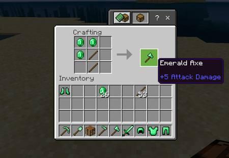 Emerald Ax craft