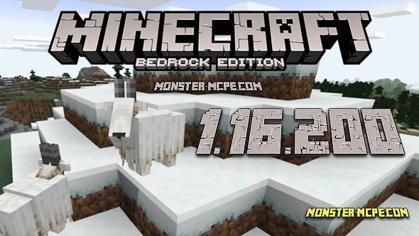 Minecraft PE 1.16.200 for Android