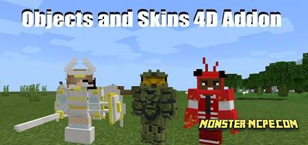 Skins 4D and Objects 4D Add-on