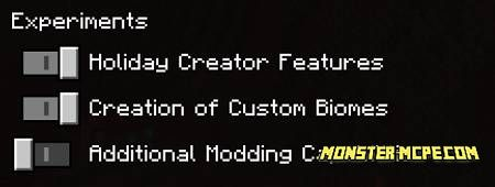 settings for the addon