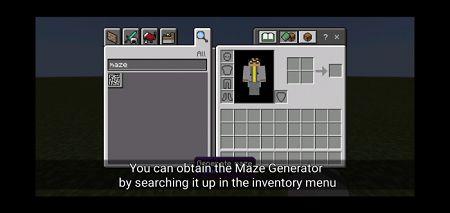 the maze generator item