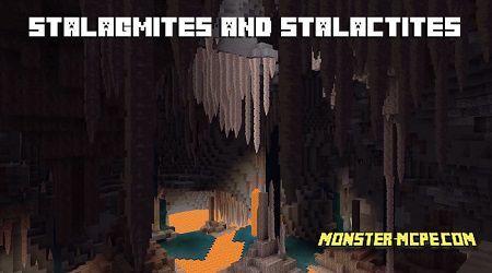 stalagmites and stalactites