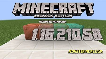 Minecraft PE 1.16.210.58 for Android