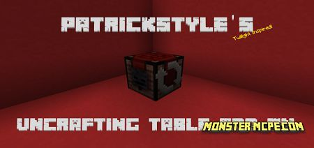 Uncrafting Table Add-on 1.16+