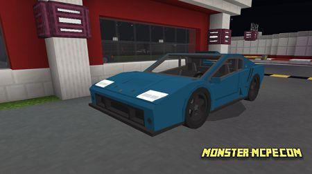 Blue Lamborghini Diablo