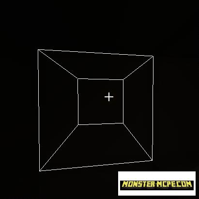 White outline black
