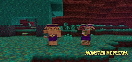 Piglin Fungus Throwers Add-on 1.16+