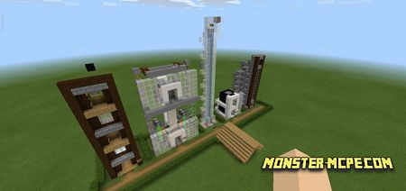 5 Redstone Elevators Map