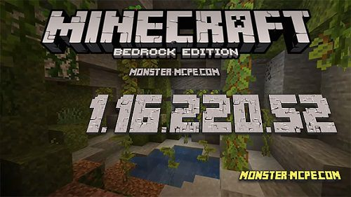 Minecraft PE 1.16.220.52 for Android