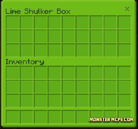 Lime Shulker Box GUI