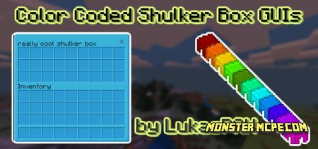 Color Coded Shulker Box GUI Resource Pack