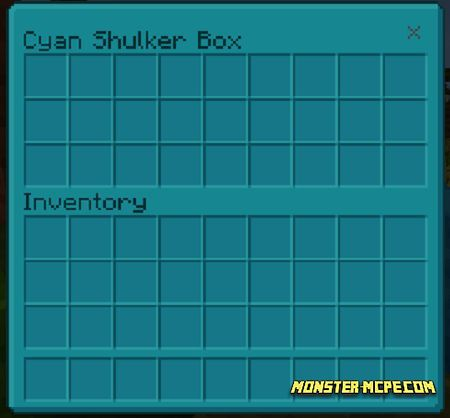 Cyan Shulker Box GUI