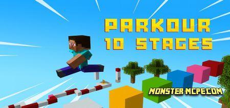 10 Stages Parkour Map