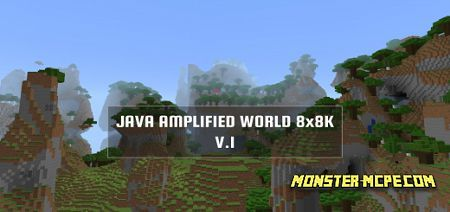 Real Java Amplified World 8x8k Map