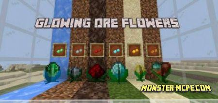 Glowing Ore Flowers Add-on 1.17+